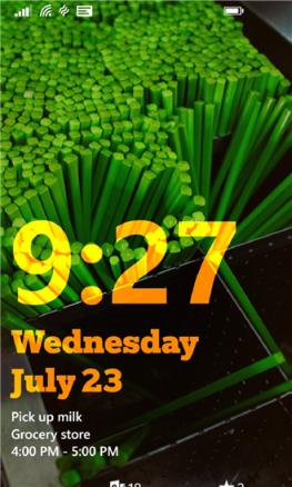 Microsoft Live Lock Screen App for Windows Phones