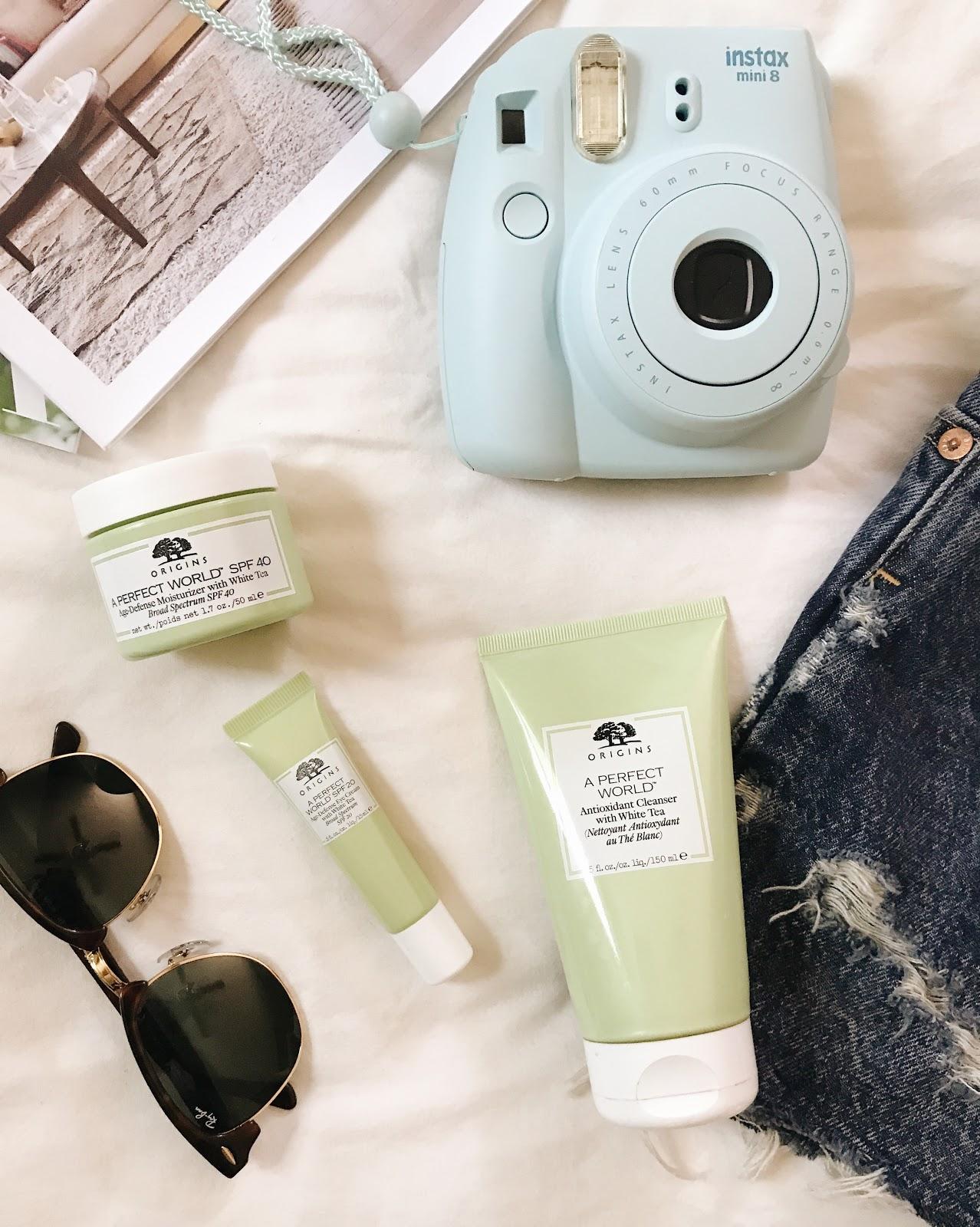Summer Vacation beauty essentials // Origins 'A Perfect World' skincare