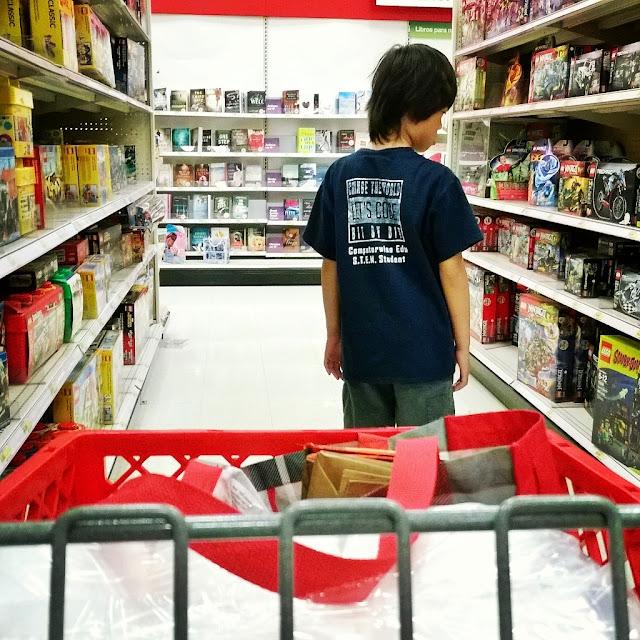Lego shopping at Target. See more pics at growinguphui.blogspot.com