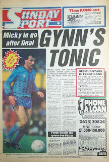 Scan of the back page of the Sunday Sport dated 26th April 1987