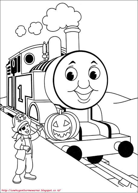 Gambar Mewarnai Thomas And Friends Untuk Anak PAUD dan TK