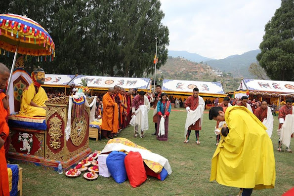 "King Jigme Khesar and Queen Jetsun Pema, Crown Prince of Bhutan was announced as ""Crown Prince Jigme Namgyel Wangchuck""."