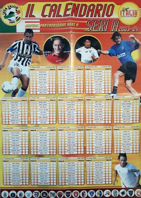 IL CALENDARIO SERI A 2003-04