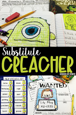It's October and Halloween is probably on the minds of most of your students. Your students are starting to get comfortable and their true personalities are emerging. Combine these two and it's time to grab your copy of Substitute Creacher by Chris Gall and share it with your students! Here are some of my favorite activities to use with this story.