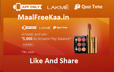 Free Lakme Rs 5000