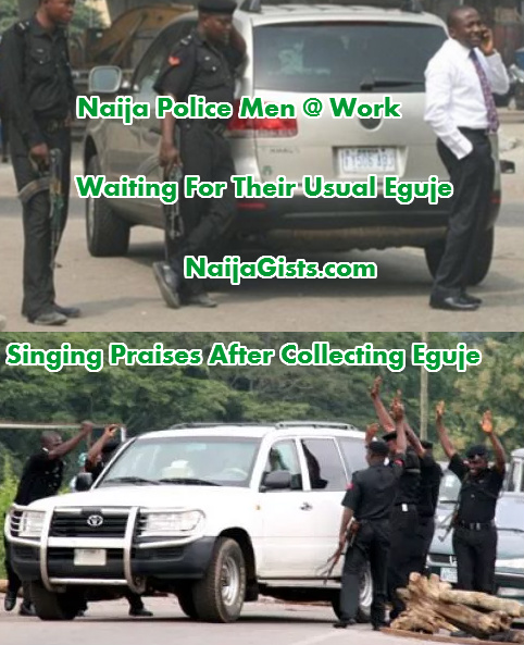 nigerian policemen collecting bribe