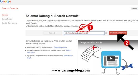 Cara Terbaru Mendaftarkan Blog ke Google Webmaster Tools