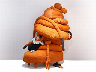 Diseño de sillón único  color naranja