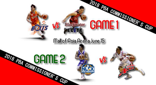 List of PBA Games: June 15 at MOA Arena 2018 PBA Commissioner's Cup