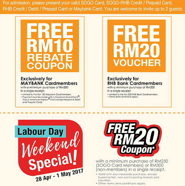 KL SOGO Bank Card Member Free Rebate Coupon Voucher