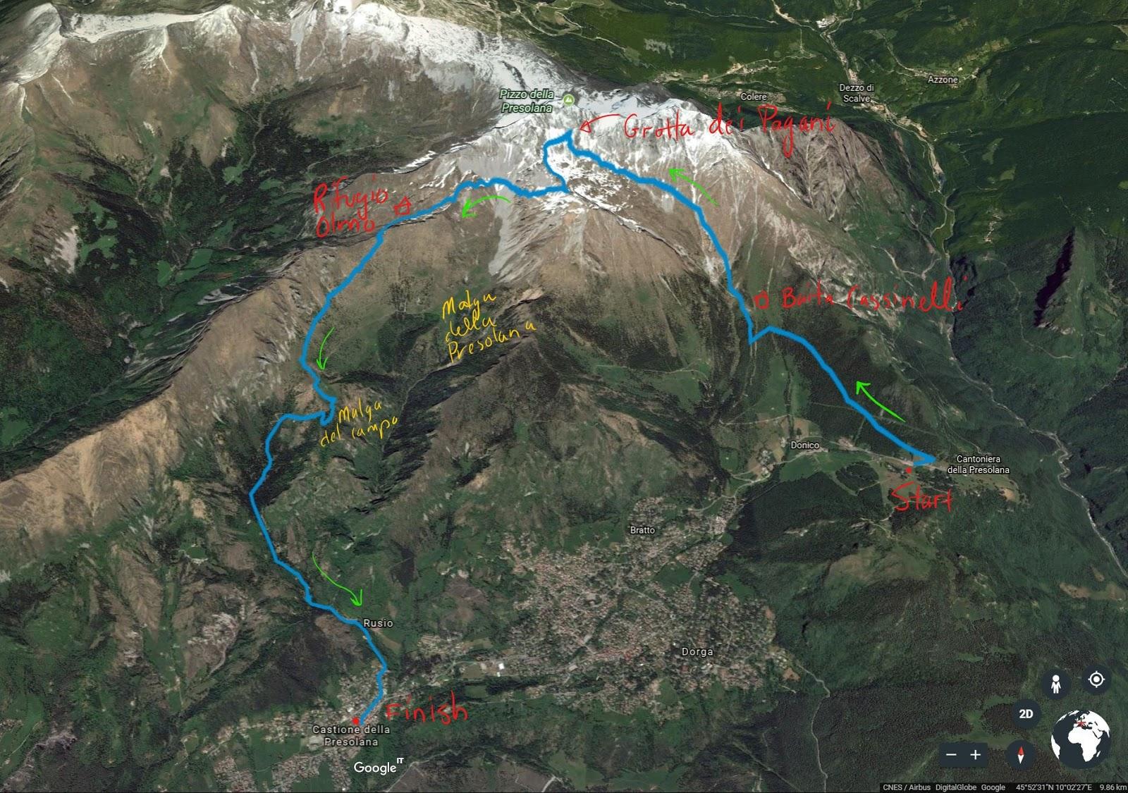 A Hike from Passo Presolana to Rifugio Rino Olmo to Castione della Presolana
