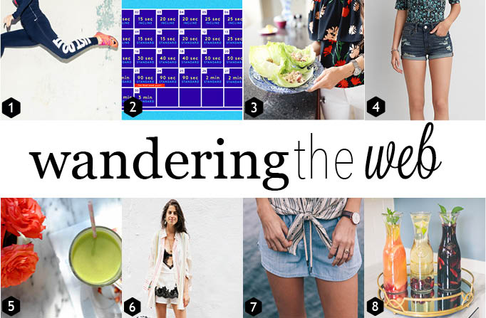 Healthy chicken lettuce wraps, three Fourth of July sangria recipes, the perfect shorts for summer and 10 ways to make your morning suck less.