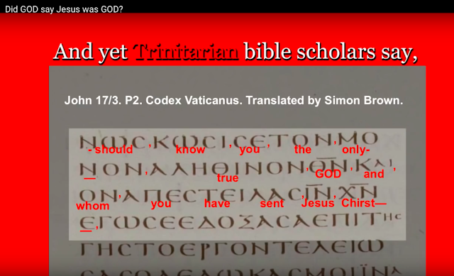 And yet Trinitarian bible scholars, say, we must be a Bible scholar, to understand the Biblical facts.