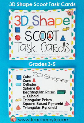 Scoot Cards for 3D Shapes