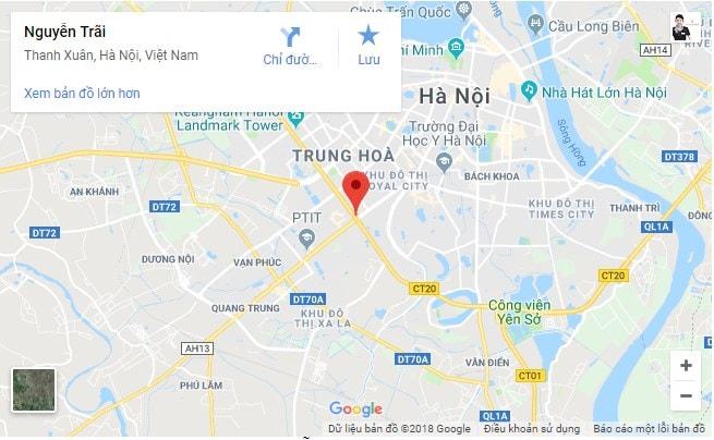Vị trí đường Nguyễn Trãi
