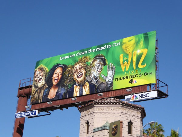 The Wiz Live billboard