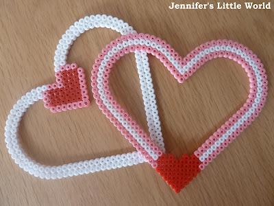 Hama bead heart frames for Valentine's Day