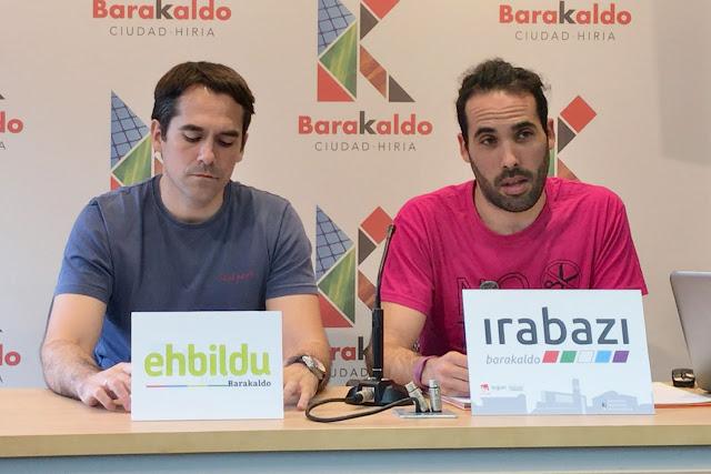 Rueda de prensa conjunta de EH Bildu e Irabazi