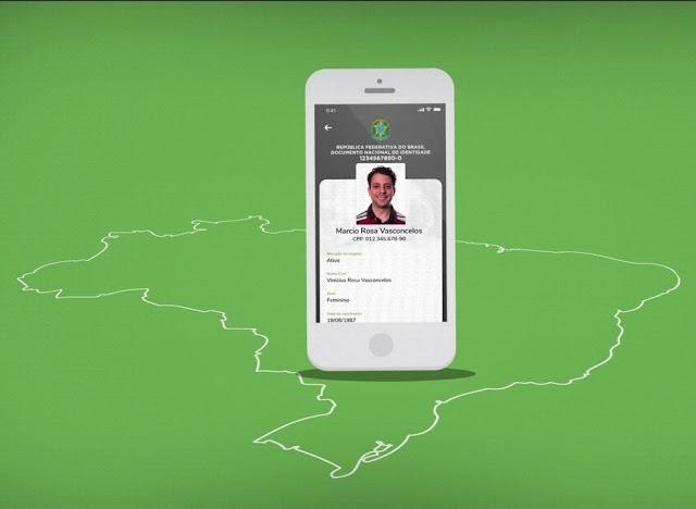 DNI - Documento Nacional de Identificação exibido em smartphone