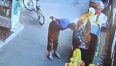 Detik-detik penculikan anak terekam kamera CCTV