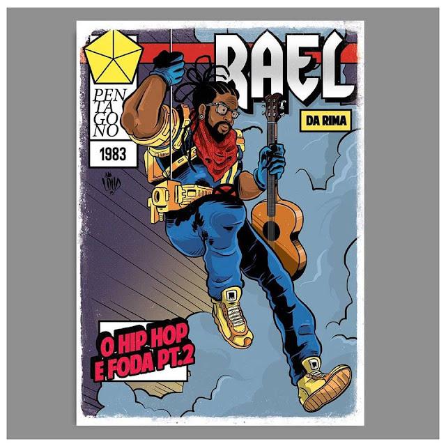 Rap em Quadrinho - Rael é retratado com Bishop, Herói da Marvel