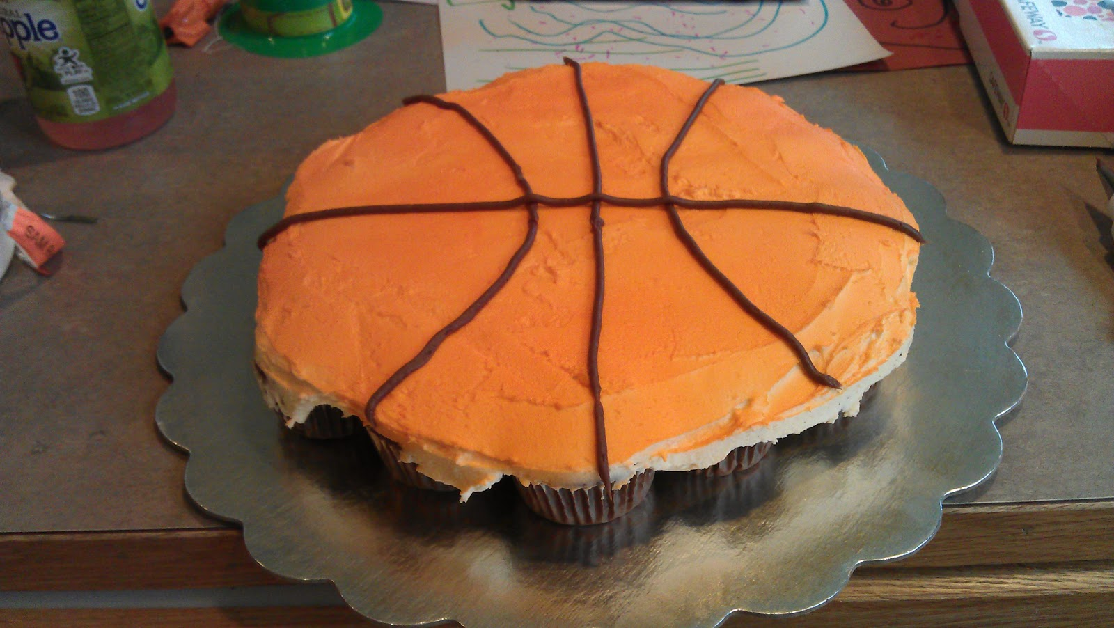 Joelle S Sweet Cakes Basketball Cupcake Cake And Cakepops