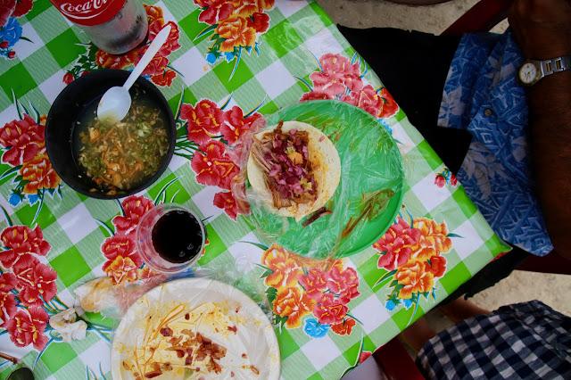cochinita pibil de Julio, Holbox, Yucatan, Mexico