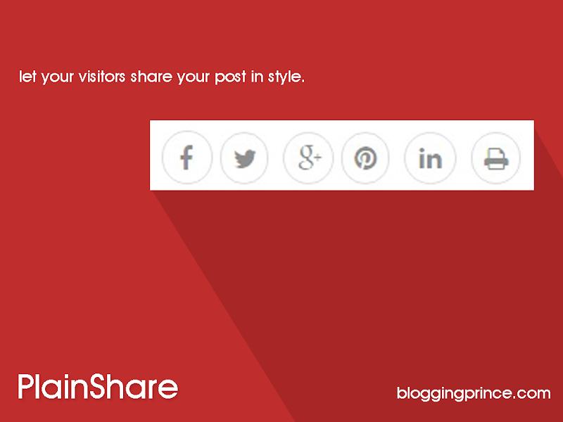 blogger share button