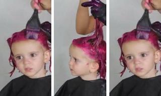 Έβαψε τα μαλλιά της κόρης της και προκάλεσε θύελλα αντιδράσεων