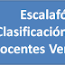 Escalafón de Clasificación para los Docentes Venezolanos