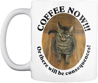 Coffee Now! Or there will be consequences funny cat mug