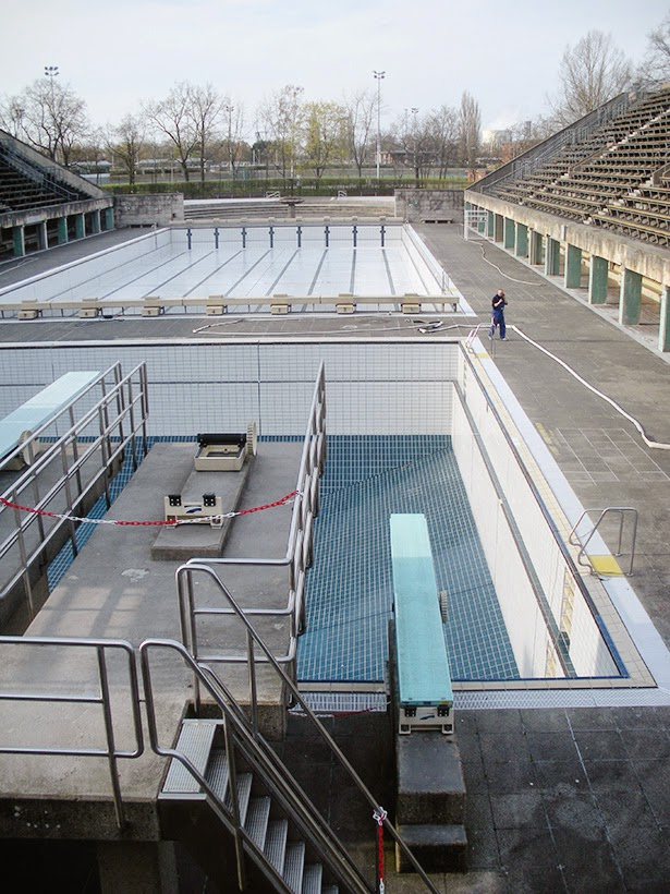 Olympic aquatic center in Berlin, Germany