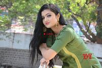 Akshitha cute beauty in Green Salwar at Satya Gang Movie Audio Success meet ~  Exclusive Galleries 013.jpg