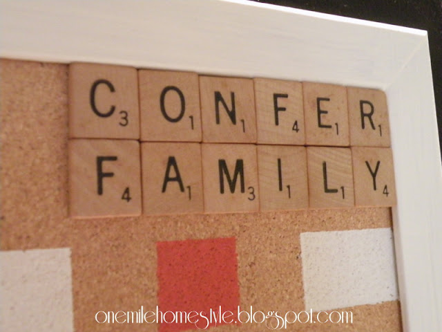 Create a personal touch with scrabble tiles