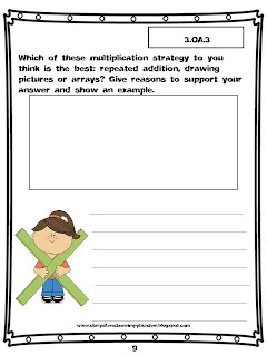 Diary Of A Not So Wimpy Teacher 3rd Grade Common Core Math Journal