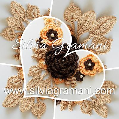 Colar Afrodite com Flores Intercaladas