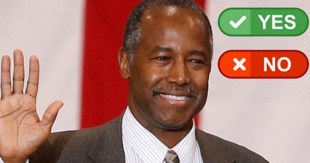 Do You Think Ben Carson Is Doing An Awesome Job?