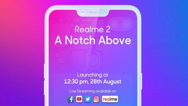 Realme 2 launching today in India  Price under 10000rs.