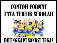 Download Contoh Format Tata Tertib Sekolah Dilengkapi Sanksi Bagi Pelanggar