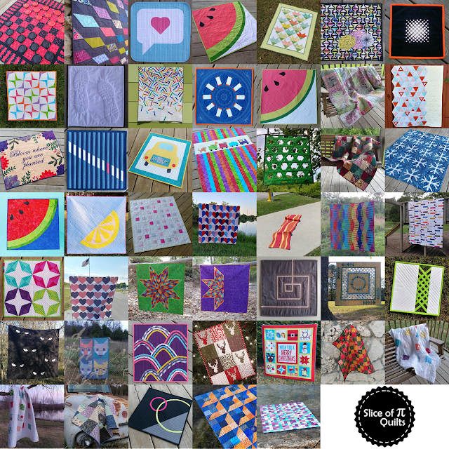 Quilts by Laura Piland of Slice of Pi Quilts in 2017