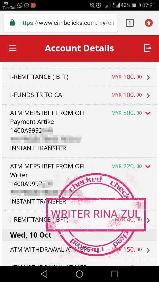 Projek Penulisan RM280 Seminggu