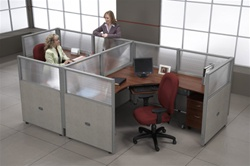 2 Person Office Cubicle