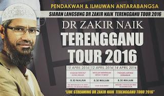 Dr Zakir Naik Tour Terengganu Live Streaming