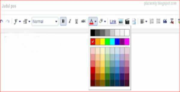 cara buat font berwarna di blog