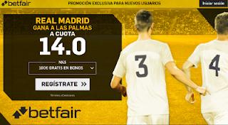 betfair supercuota victoria del Real Madrid a Las Palmas 5 noviembre