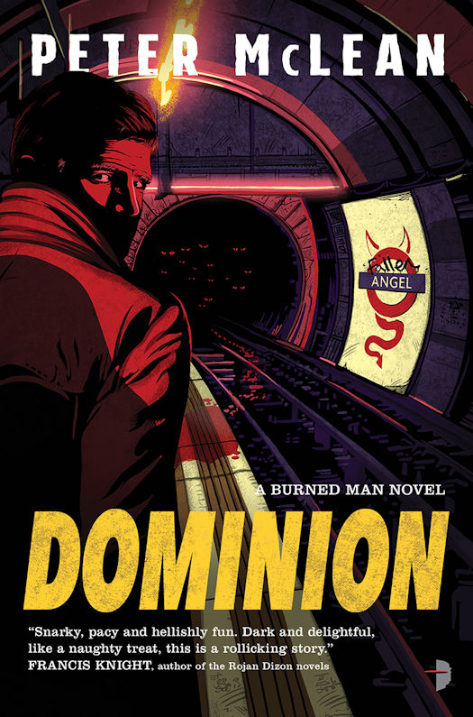 Interview with Peter McLean, author of the Burned Man Novels, and Review of Dominion