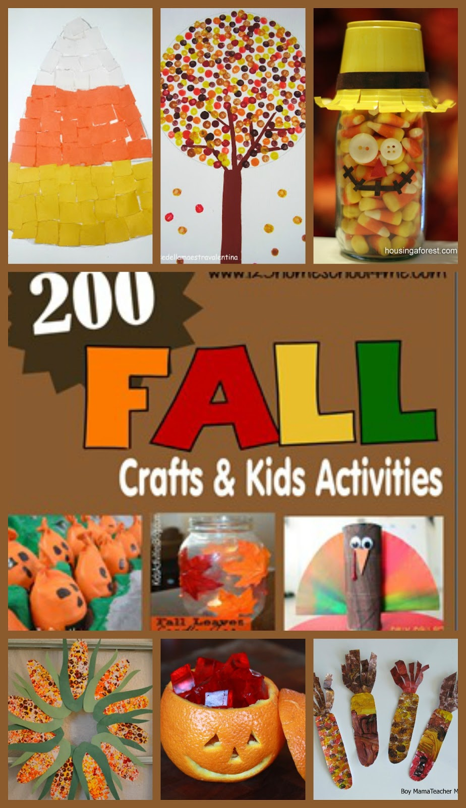 incredible Fall Craft Preschool Part - 13: 200 fall crafts and kids activities