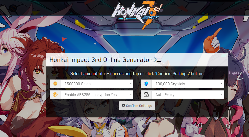 Honkai Impact 3rd Hack MOD Get Unlimited Gold Crystals