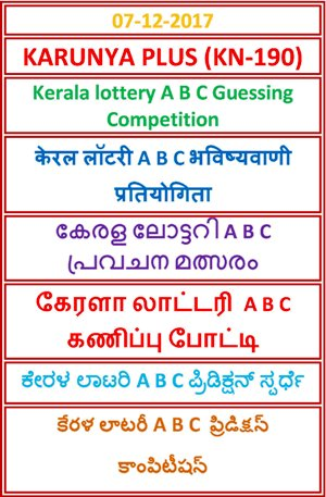 A B C Guessing Competition KARUNYA PLUS KN-190