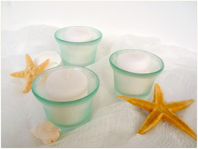 Sea Glass Votive Holders Tutorial by Dana Tatar